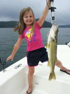 Haley Haley Bartenfield of Chatsworth, Ga. shows off this nice 4.5 pound walleye caught at Carters Lake.