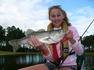 Emily Staton of Tifton fished at Paradise PFA on Saturday in the Teen Bass Excursions and caught this beautiful 2-pound, 12-ounce bass.