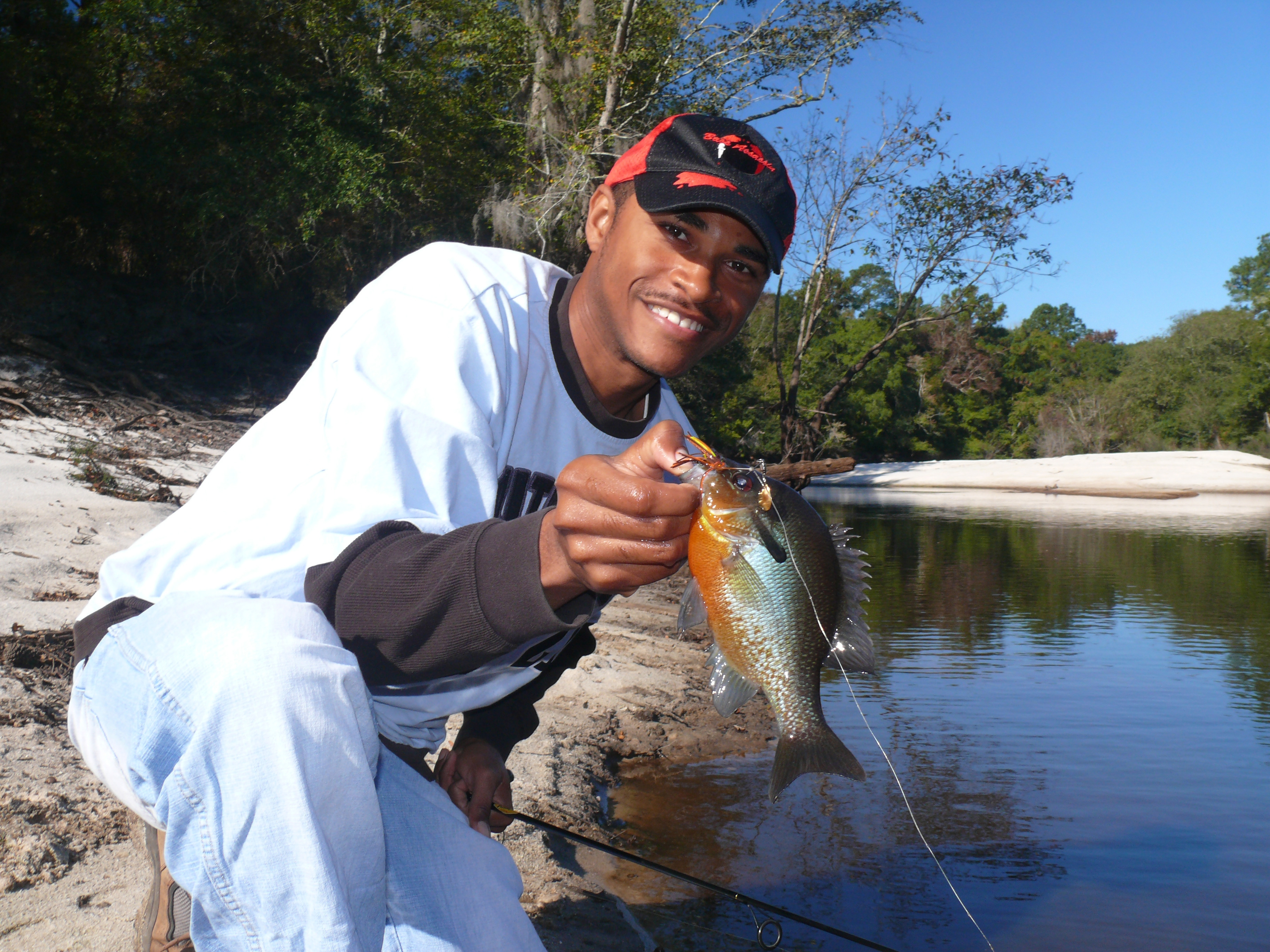 Freshwater fish in georgia - Justin Bythwood Of Waycross Holds A Nice Redbreast One Of 103 Fish That He And