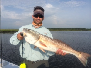 Capt. Andy Gowen of Kingsland caught this oversized redfish on Monday in the St. Marys area on a Bomber Badonkadonk.
