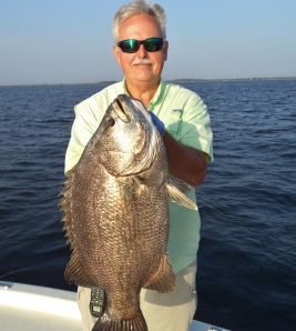 This angler was fishing with Cricket Mobley of Altamaha Trading Company on Saturday and caught this 19-pound tripletail. (Photo courtesy of Cricket Mobley)