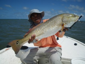 On Friday, Justin Bythwood of Waycross whacked this 33-inch redfish at the St. Marys Jetties.