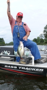 Tommy Davis from Baxley has been whacking the crappie over the last couple of weeks. This slab ate a minnow fished under a float.