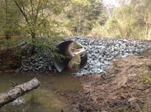Cut-through culvert