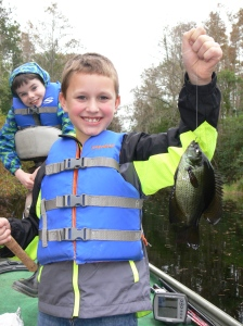 Noah of Waycross caught his first flier in the Okefenokee Swamp out of the Folkston entrance on Saturday.