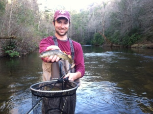 Brown trout on Chattooga DH.