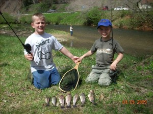 Trout fishing on the Chattahoochee, April 2009.
