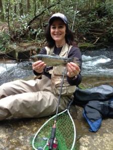 Trout fishing at Dicks Creek.