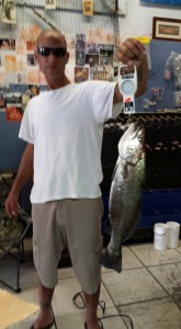 5 and a half pound sea trout caught off Saint Simons Pier.