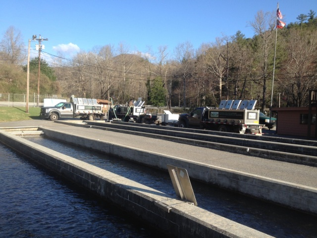 trout stocking 3 Burton trucks 3-21-16.jpg