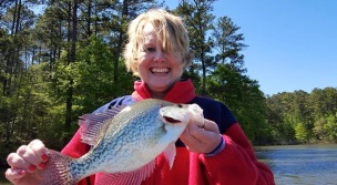 crappie kathy Clark Hill Apr 2016