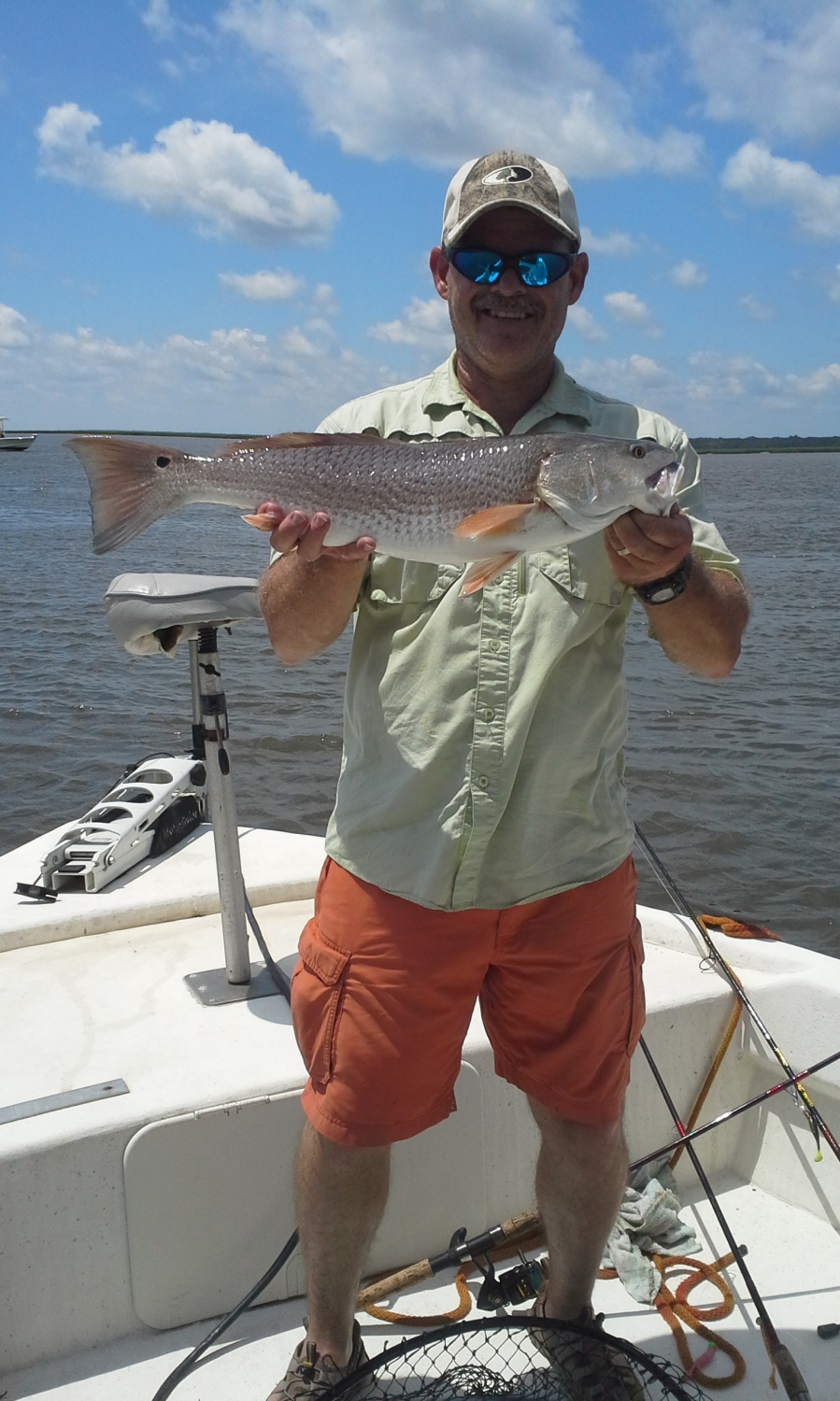 Don Harrison of Waycross caught this oversized redfish from Crooked River on July 4th while casting a Sea Shad suspended under an Equalizer Float.