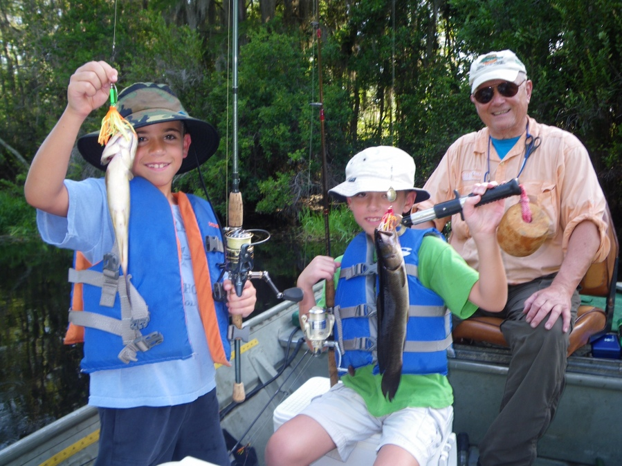 One of the peak bites during the dog days of summer is bowfin in the Okefenokee Swamp.