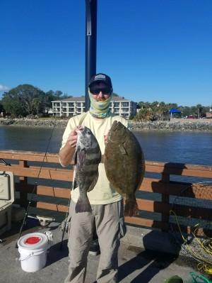 SE GA Hunter Bechtel Flounder-black drum from pier 11 17