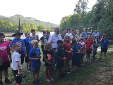 Rabun Trout Unlimited Youth benefit from Bass Pro Shops used reels program