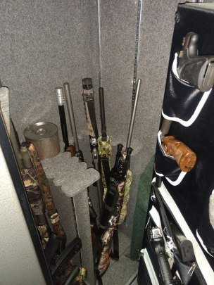 Safe with properly stored rifles. Credit: Camo Dreams, Inc.