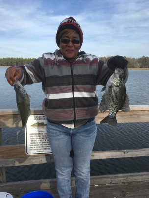 Mary Johnson caught this nice slab at Paradise PFA.