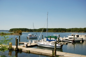 Boats in the Marina at George T. Bagby