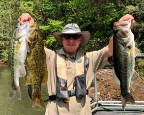 bass 3species damer sample Blue Ridge May2018small